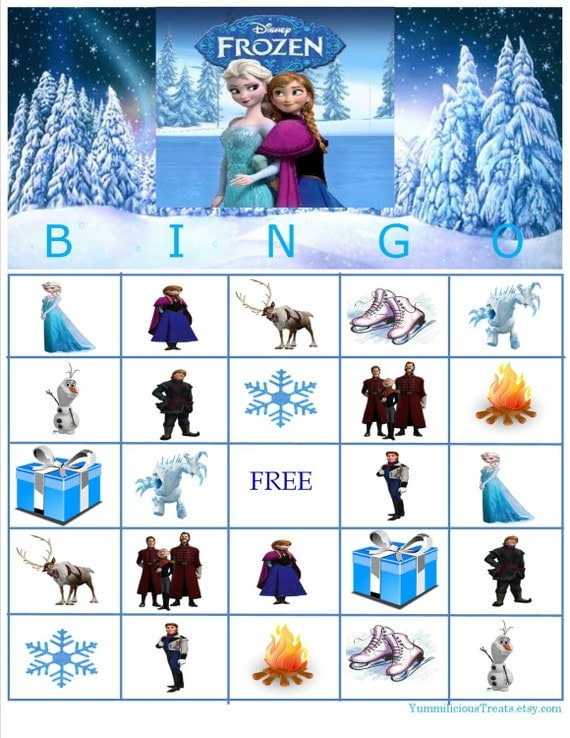 Disney Frozen Bingo Instant Download by YummiliciousTreats