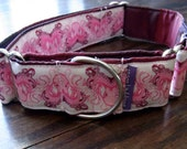 """Unique Octopus/ Butterfly Optical Illusion Custom Martingale Dog Collar 1.5""""wide"""