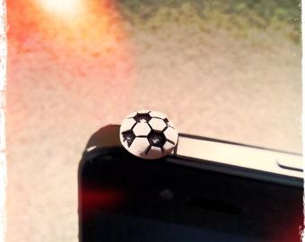 Cute Soccer iPhone or iPad Anti-Dust Plug Charm Accessories