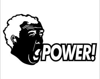 Power Jeremy Clarkson Sticker (2 pack)