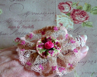 Marie Antoinette Victorian Steampunk Lolita Vintage Lace Ring finger Cuff Bracelet  Free size Bridesmaid