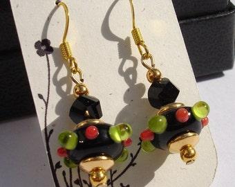 FIESTA Handmade Glass Lampwork Earrings