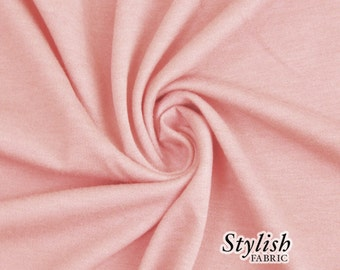 Dusty Pink French Terry Fabric by the yard, French Terry Fabric for Pants, Sweater, Shorts, Sweatpants, Yoga Fabric - 1 Yard Style 506