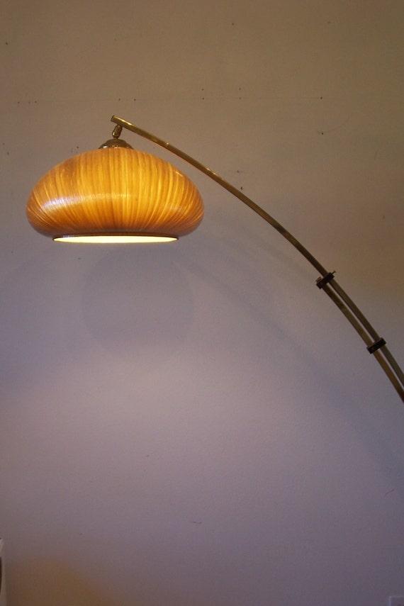Vintage Retro Mid Century Brass Floor Lamp Arc Lamp Spun