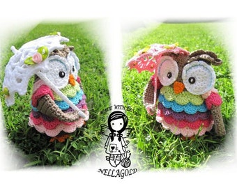 Crochet PATTERN, Collectors item  02 Dreesy Owl, Toy, Home Decor, DIY Pattern 31