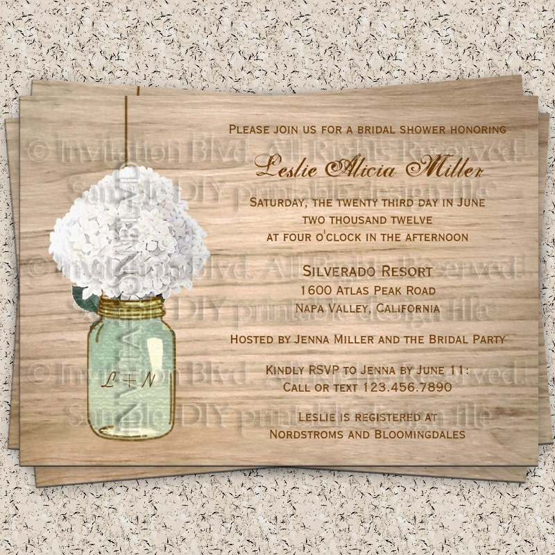 bridal shower invitation rustic bridal shower by