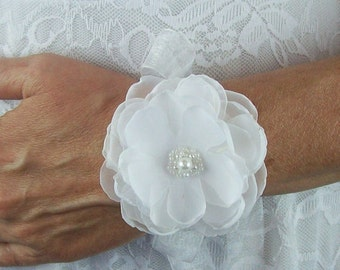 Bridal Flower Wrist Corsage,Pick Your Color,Wedding Flower Wrist Corsage,Bridal Flower Bracelet