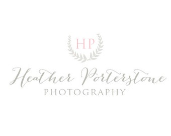 Classic Calligraphy style Photography Logo - premade logo design - Curved Branches