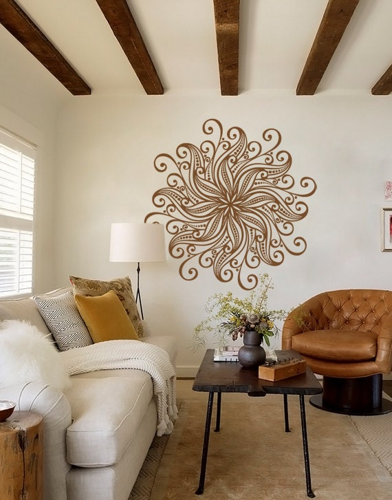 Large Decorative Bohemian Flower Mandala Decal by  ~ 170956_Etsy Dorm Room Ideas