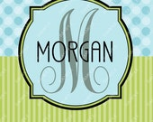 Monogram Spiral bound Personalized One Subject Notebook Steno Pad or Notepad