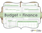 Budget & Finance Printable Pack - INSTANT DOWNLOAD