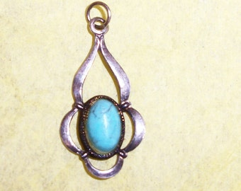 CHILDS PENDANT Native American Made Sterling Turquoise