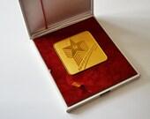 Yugoslavia Army award with ORIGINAL box / Vintage army Award / JNA medal / Vintage medal with ORIGINAL box / Vintage army plaque