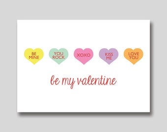INSTANT DOWNLOAD Sweethearts Folded Valentine Card - Printable