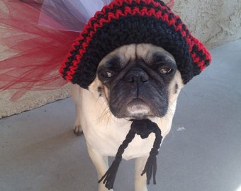 Dog Halloween Costume-Pirate Costume-Dog-Pugs-Dog Tutu