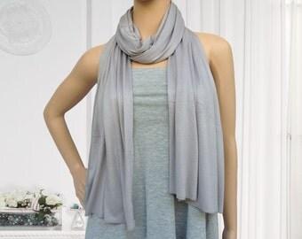 180x60cm light grey jersey scarf muslim hijab fashion scarf