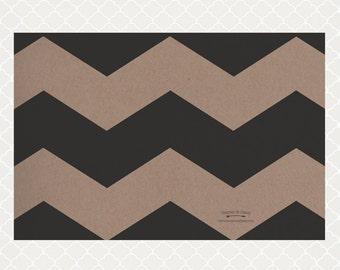 Black Chevron Paper Placemats