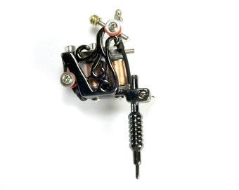 Tattoo Gun Pendant, 78mm, Tattoo artist tool, Body Art Charm, Mini Tattoo Gun Charm, ENA039