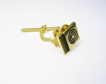Vintage 10 K Gold Tie Tack / Tie Pin / Company Award / Gentleman Wedding Jewelry / Men's Formal Wear / Tie Accessory