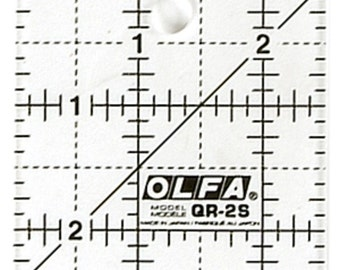 """OLFA 2 1/2"""" Square Frosted Acrylic Ruler  (QR-2S)"""
