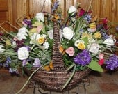 Cemetery Tombstone Saddles Sweetheart Roses Grave Flowers Mothers Day Valentines Easter Memorial Day Headstone Decoration Custom Colors
