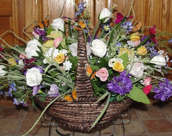 Cemetery Tombstone Saddles Sweetheart Roses Grave Flowers