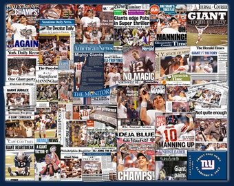 New York Giants 2012 Superbowl Newspaper Collage