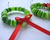 Button Wreath Ornament Craft Kit - Makes 2 - Craft for KIds - DIY Gift - Kids Craft - GrammyandMe