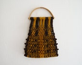 50s Handmade Crochet Bag