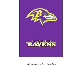 PATTERN~ Baltimore Ravens Crochet Graph Pattern