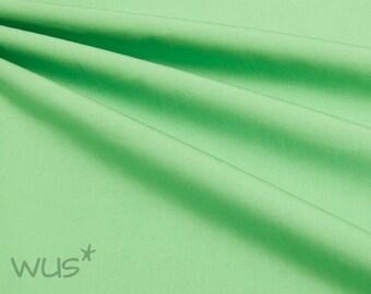 Organic Cotton Poplin green or white, GOTS certified