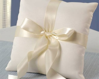 simple ivory Ring bearer pillow