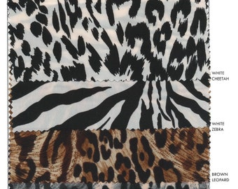 "polyester spandex animal print fabric by yard 57""/58"" wide (5yd minimum per color)"