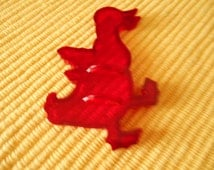 HRM Red Plastic Cookie Cutter, The Duckling, Pat. Pending,, Made in U.S.A.