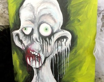 Zombie 16 x 20 on Canvas Board