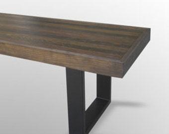 Steel Bench Legs - Black Matte (Pair) Custom for Stokehouse
