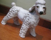 fancy white poodle figurine