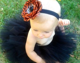 Halloween Delivery Guaranteed! Halloween Tutu Set, Black Halloween Tutu, Newborn infant toddler Halloween Tutu Set