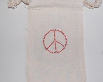 Peace Sign Favor Bags / Set of 10