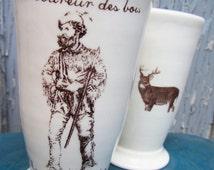 Ceramic Smoothie jar with a french expression « le coureur des bois »