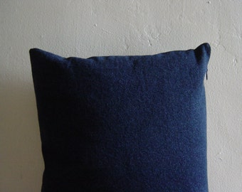 "12"" by 16"" Dark Blue Denim Pillow Cover"