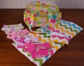 Custom doll diaper bag set, custom small handbag, custom child size purse. Chose your own doll play set