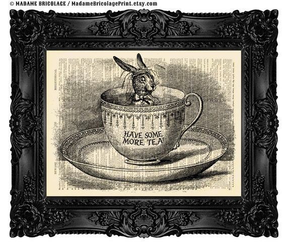 Art gift xmas print gift alice party decor alice lewis carroll 432