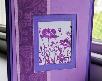 Purple Window Cut Note Card