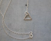RESERVED. Modern Necklace. Sterling Silver Tiny triangle.  Everyday Jewelry. Simple Jewelry.