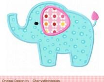 Cute elephant,Baby elephant,Elephant 04 Digital Applique -4x4 5x5 6x6 inch-Machine Embroidery Applique Design