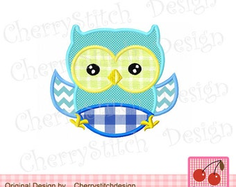 Owl Baby owl Machine Embroidery Applique Design for boys -4x4 5x5 6x6""
