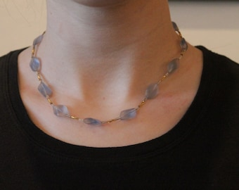 Floating Blue Necklace