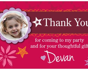 American Girl Birthday thank you card