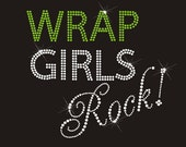 Wrap Girls Rock Hot Fix Rhinestone Transfer Logo